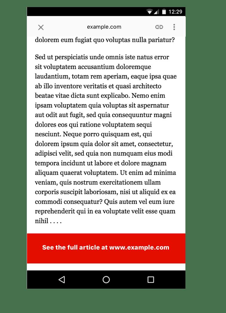 non-AMP compliant page