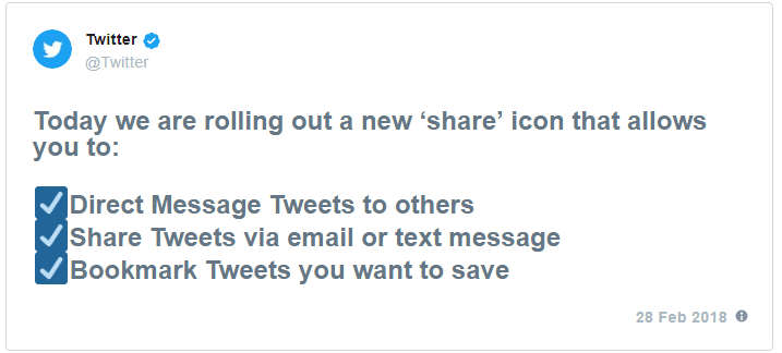 Share a Tweet icon