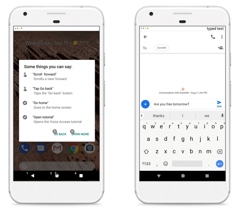 Voice Commands Used by Google Voice Access