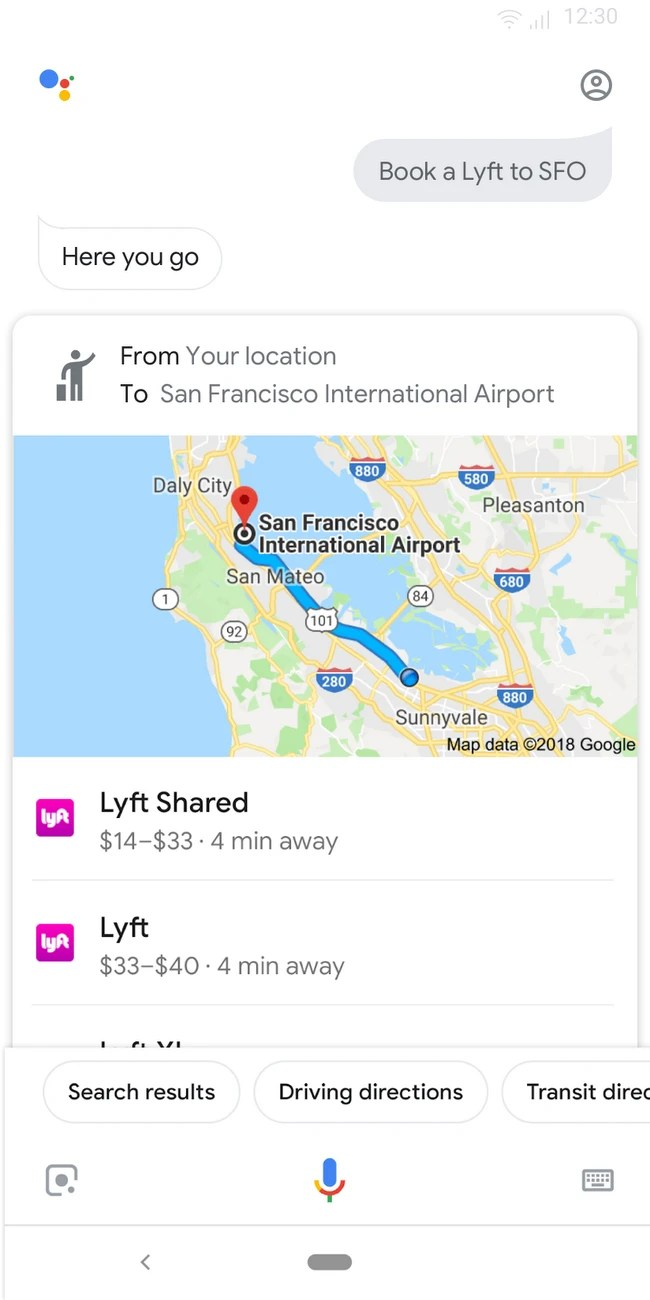Book a ride with Google Assistant