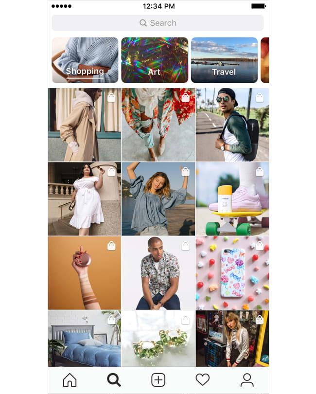 Instagram Shopping in Explore