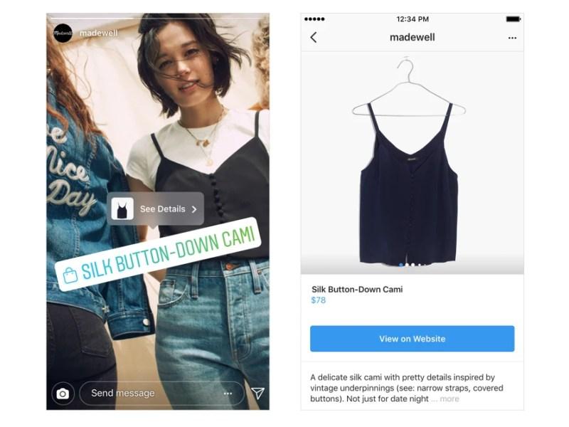 Instagram Shopping in Stories