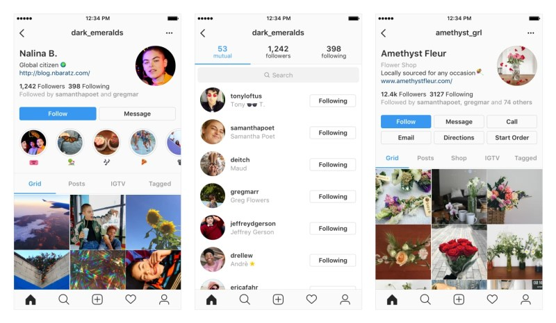 Instagram tests redesigned user profile