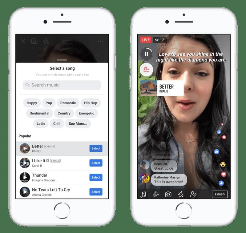 Facebook Lip Sync Live and Lyrics Feature