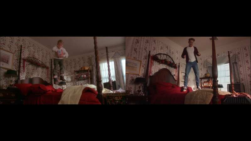 kevin mccallister vs. macaulay culkin in home alone again decorating christmas tress