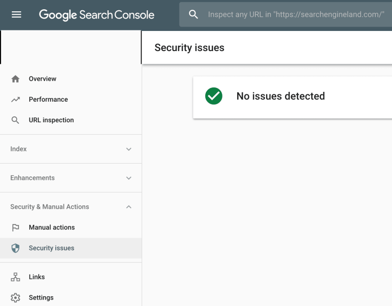 Google Search Console No Issues Detected With Green Cehckmark