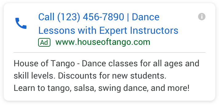 More Lines of Text in Call-only Google Ads