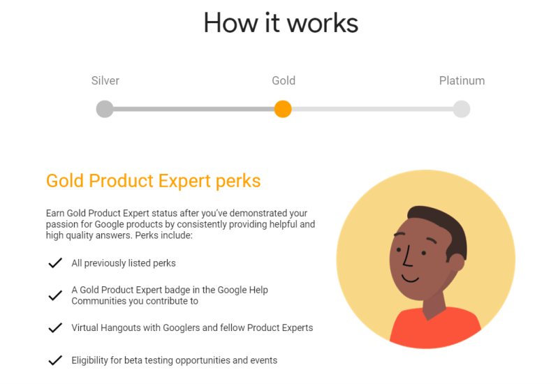 Google Product Experts Gold Perks