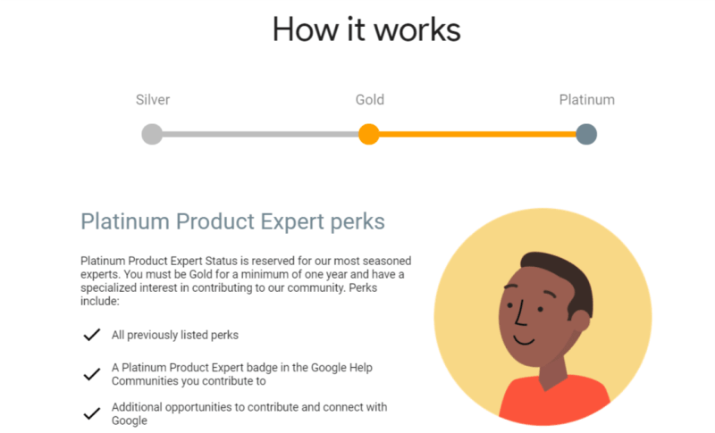 Google Product Experts Platinum Perks