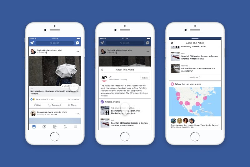 Facebook News Feed: evaluate the credibility of an article