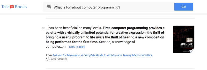 Talk to Books Google Semantic Experiences,