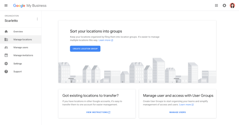 Google My Business Agency and Partners Dashboard