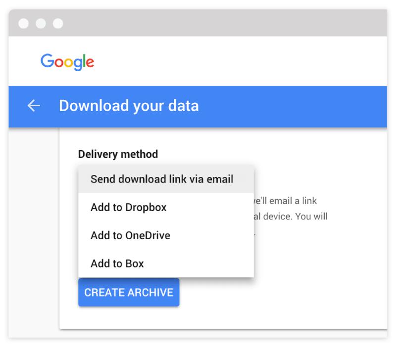 Data Export Options in G Suite