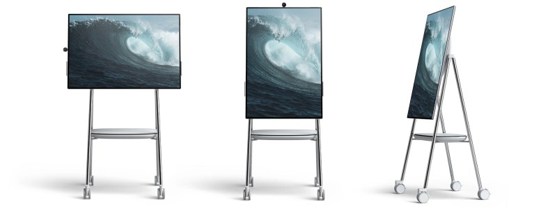 Microsoft Surface Hub 2 on a Steel Rolling Stand