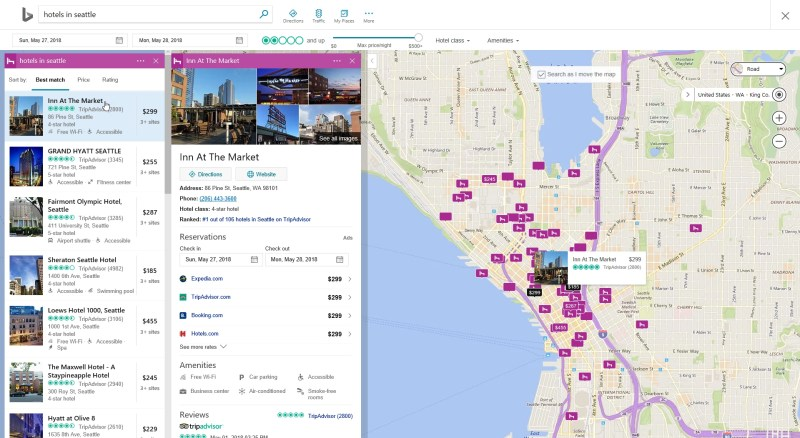 New Bing Hotel Search and Booking Experience