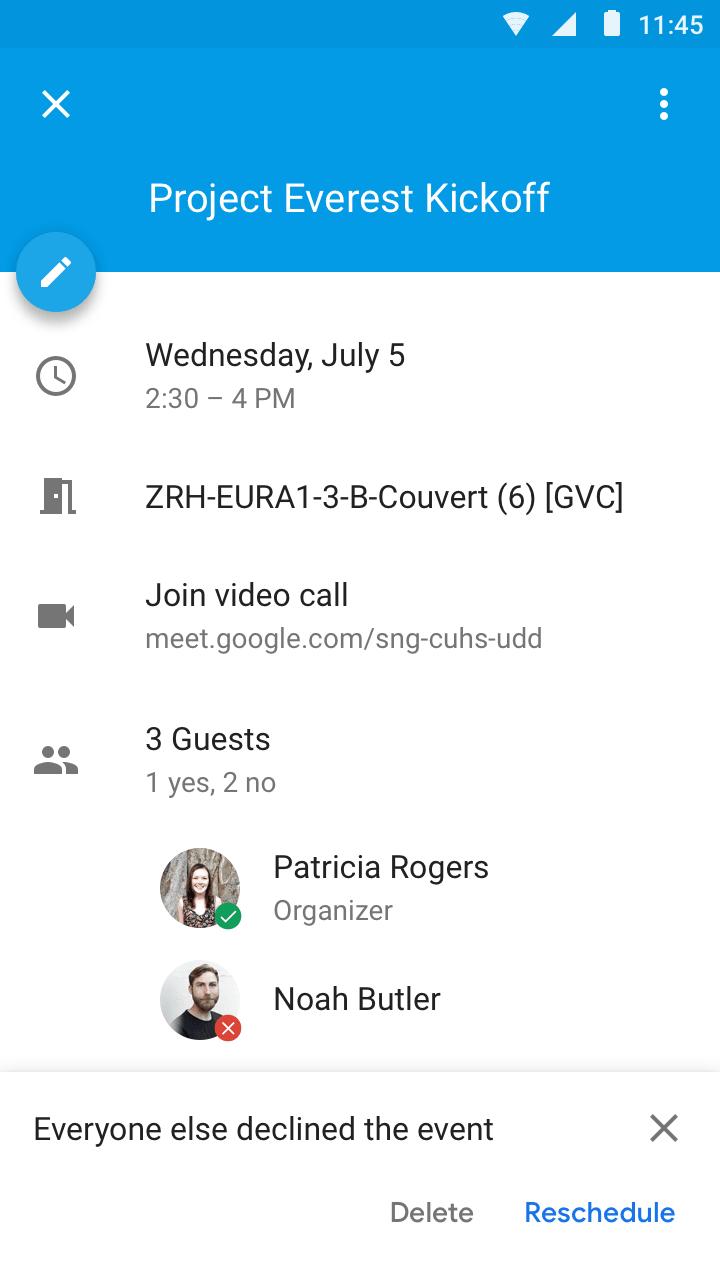 Google Calendar Even Declined