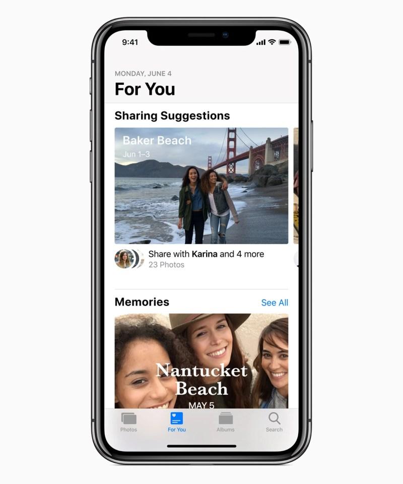 iOS 12 Photos App For You Tab