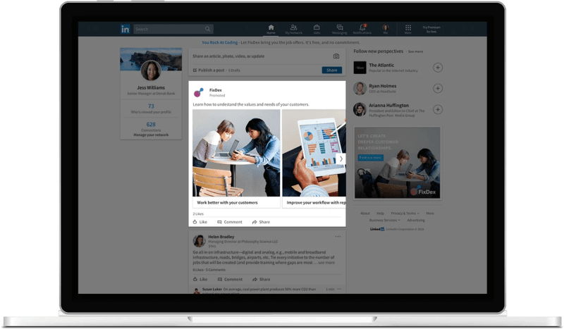 LinkedIn Carousel Ads for Sponsored Content