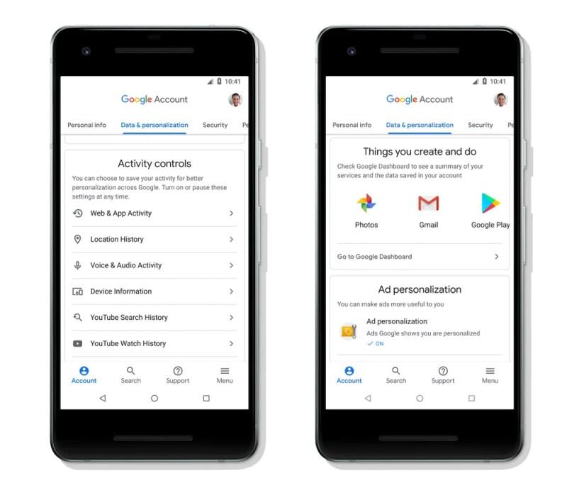 Google Account Activity Control