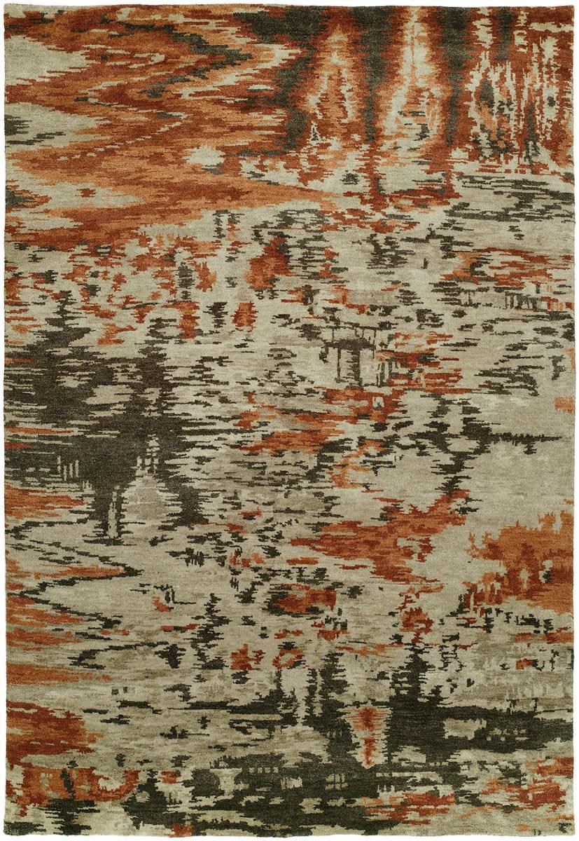 Famous Maker Dynamic 100318 Mirage Burnt Orange Rug Studio | Burnt Orange Stair Carpet | 4500 10538 | Non Slip | Orange Area Rug | Overstock | Self Adhesive