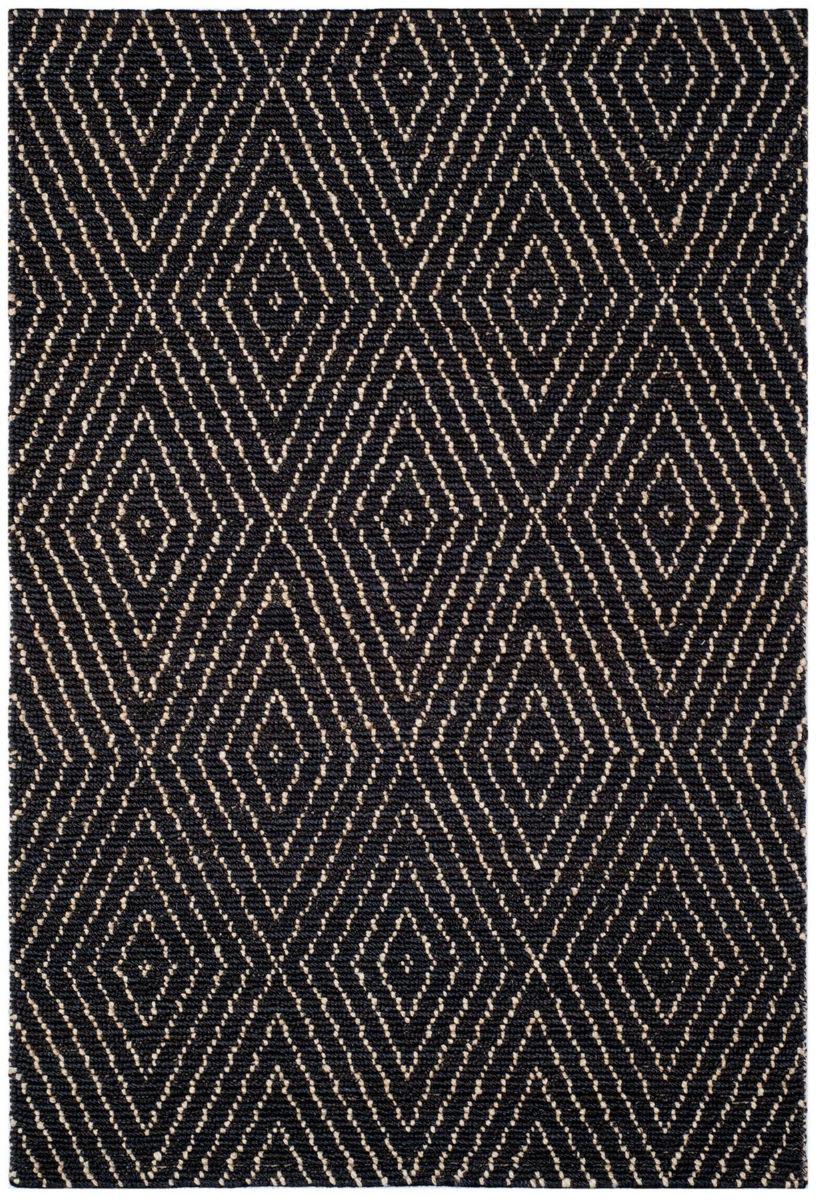 safavieh bohemian boh702a black ivory area rug