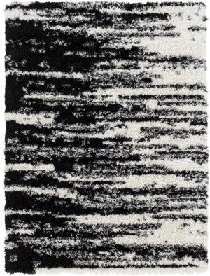 black and white shag rug at rug studio