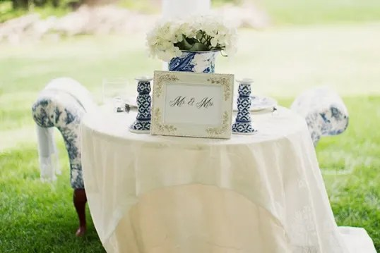 french dressing toile wedding style