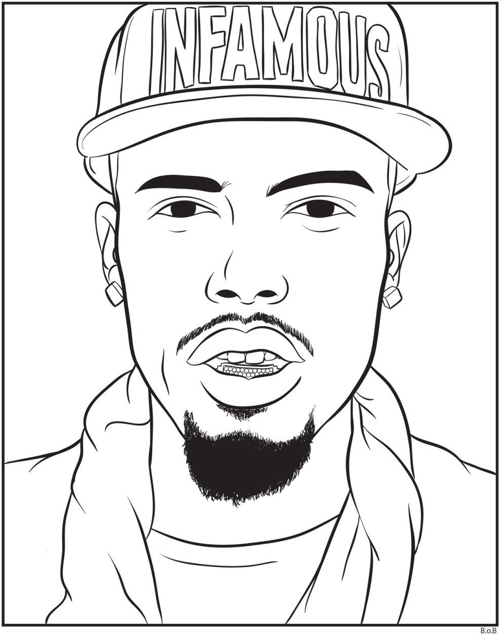 Rap Star Coloring Pages