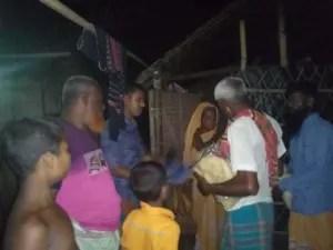 Distribution of Eid gifts of Bondhu Sangskritik Porishod at Muktagachha