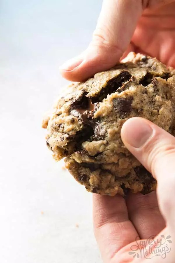 You never had chocolate chip oatmeal cookies like these before! Made healthy with whole wheat flour, these easy & chewy cookies NEED to be your next baking project!