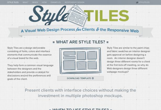 style tiles responsive web design