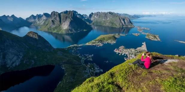 Viewpoint of Lofoten, Norway
