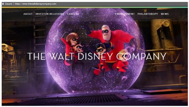 The Walt Disney Company on WordPress