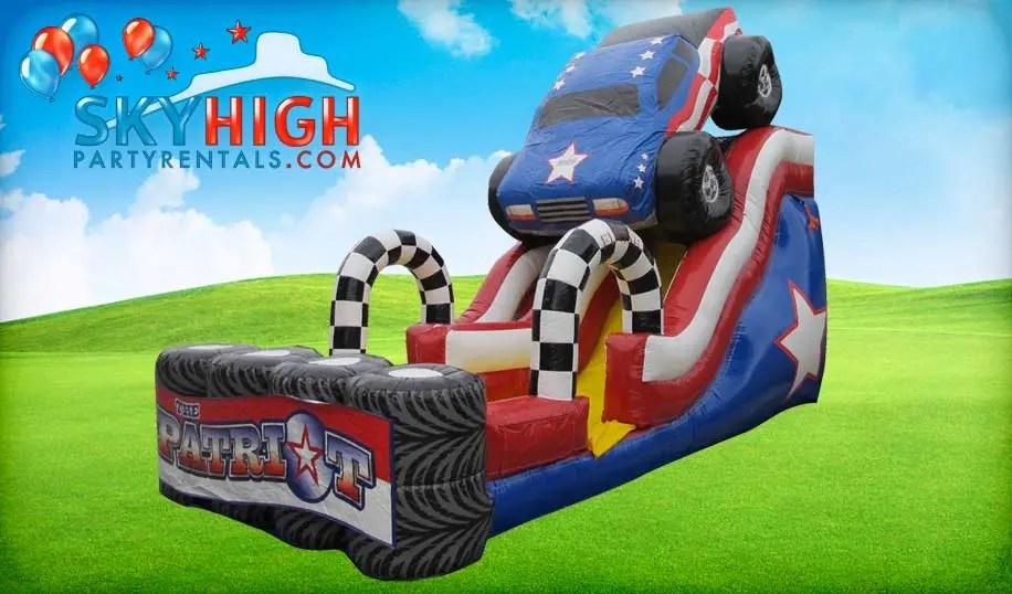 Usa 18ft Patriot Monster Truck Slide Wet Dry Rentals Sky High Party Rentals