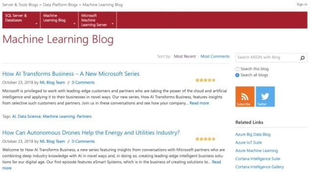 Microsoft's Machine Learning Blog