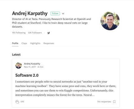 Andrej Karpathy's blog