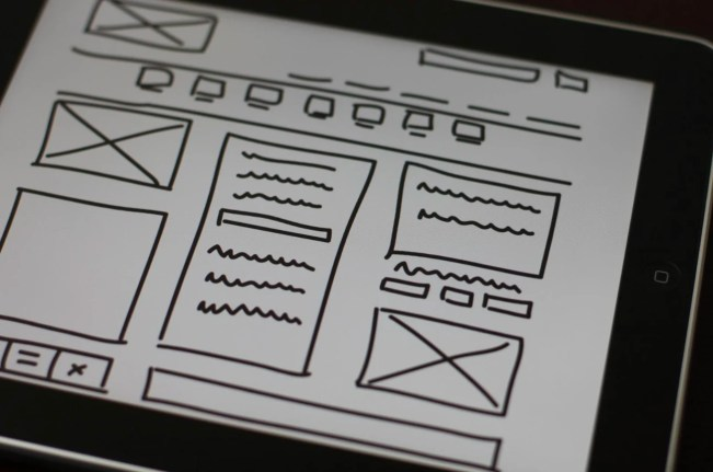 A UX wireframe