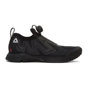 VETEMENTS SSENSE Exclusive Black Reebok Edition Pump Supreme Sneakers