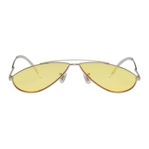 Gentle Monster Silver and Yellow Kujo Sunglasses