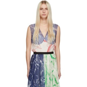 Marina Moscone SSENSE Exclusive Multicolor Silk Print Tank Top