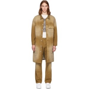 Billy Tan Canvas Workwear Trench Coat