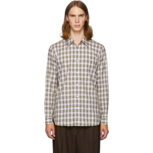 Tibi SSENSE Exclusive White and Multicolor Check Kingtson Shirt