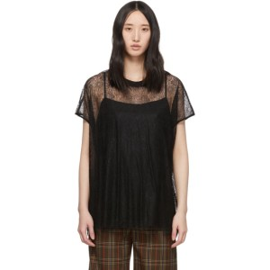 McQ Alexander McQueen Black McQ Swallow Lace Blouse