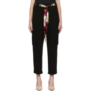 Alanui Black Cashmere and Wool Lapponia Trousers