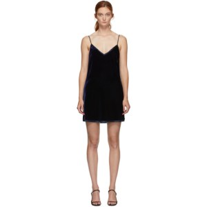 I.D. Sarrieri Navy Velvet Mini Dress