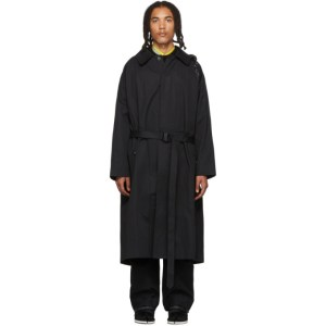 Sankuanz Black Trench Coat