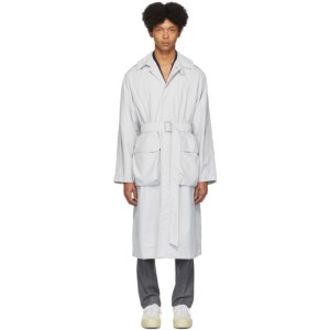 Deveaux New York Grey Nylon Utility Coat
