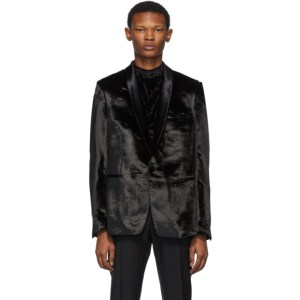 Paul Smith Black Crushed Velvet Blazer
