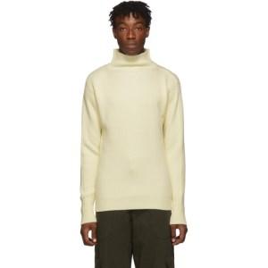 Barena Off-White Cimador Mock Neck Sweater