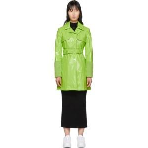 Kirin Green Short Trench Coat